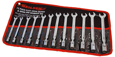 Flexi-Head Socket Wrench Set