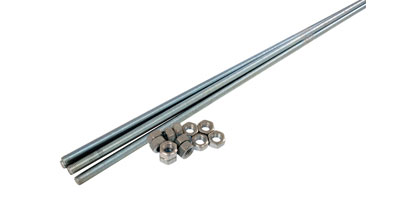 8mm Steel Threaded Bars