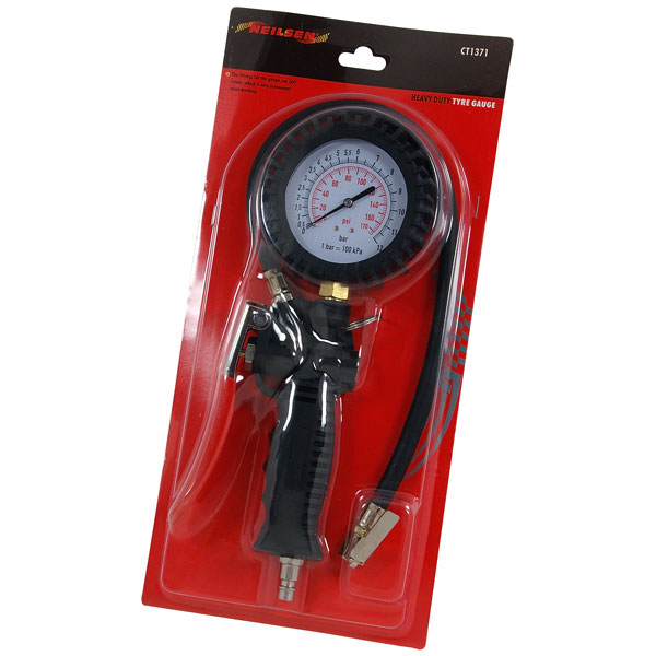 Tyre Inflator with Rotating Gauge