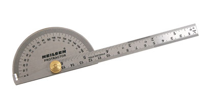 Stainless Steel Rule and Protractor