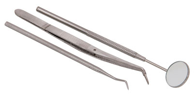 Tweezers with Mirror and Pick