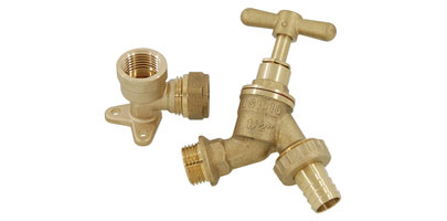 Brass Tap and Hose Adaptor