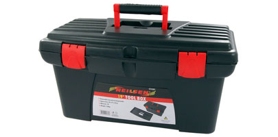 Plastic Tool Box with removable tray