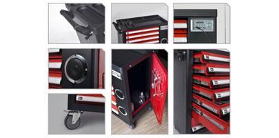 7 Drawer Tool Cabinet with Bluetooth