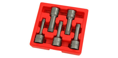 5 Piece Multi-Spline Screw Extractor Set