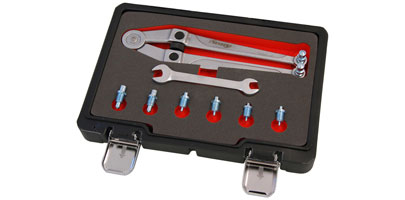 Divider Style Adjustable Pin Wrench Set