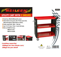 Utility Tool Cart with 3 Shelves