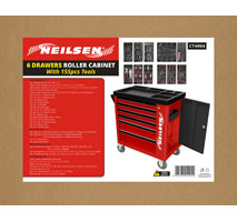 6 Drawer Tool Cabinet with Tools