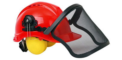 Safety Helmet with Ear Defenders