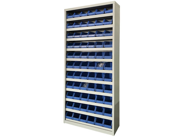 Storage Cabinet with Plastic Bins